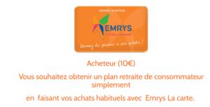 CARTE 10€ EMRYS