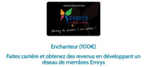 CARTE 100€ EMRYS