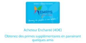 CARTE 40€ EMRYS